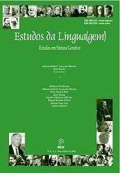 Visualizar v. 8 n. 2 (2010): Estudos da Língua(gem) - ISSN: 1982-0534