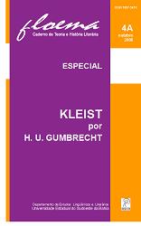 Visualizar n. 4A (2008): Kleist por H. U. Gumbrecht