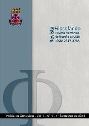 Visualizar v. 1 n. 1 (2013): VOL. 1, NO 1 (2013): REVISTA FILOSOFANDO