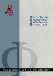 Visualizar v. 1 n. 2 (2013): VOL. 1, NO 2 (2013): REVISTA FILOSOFANDO
